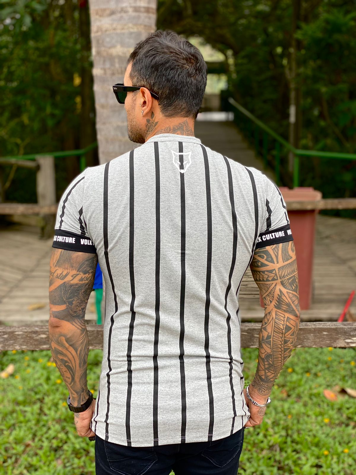 Camisa Botão Cinza Line Premium Volk Culture  - Harpia Moda - Moda Masculina & Acessórios