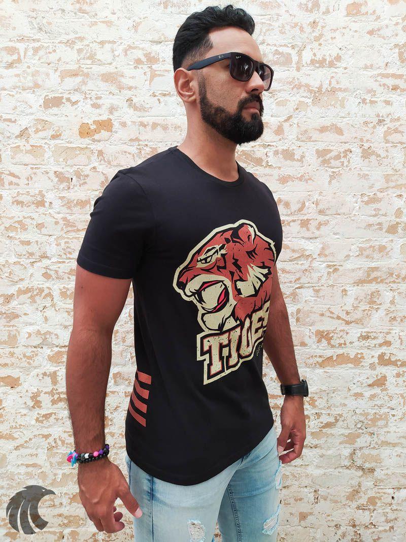 Camiseta Deep Roots Black Tigers  - Harpia Moda - Moda Masculina & Acessórios