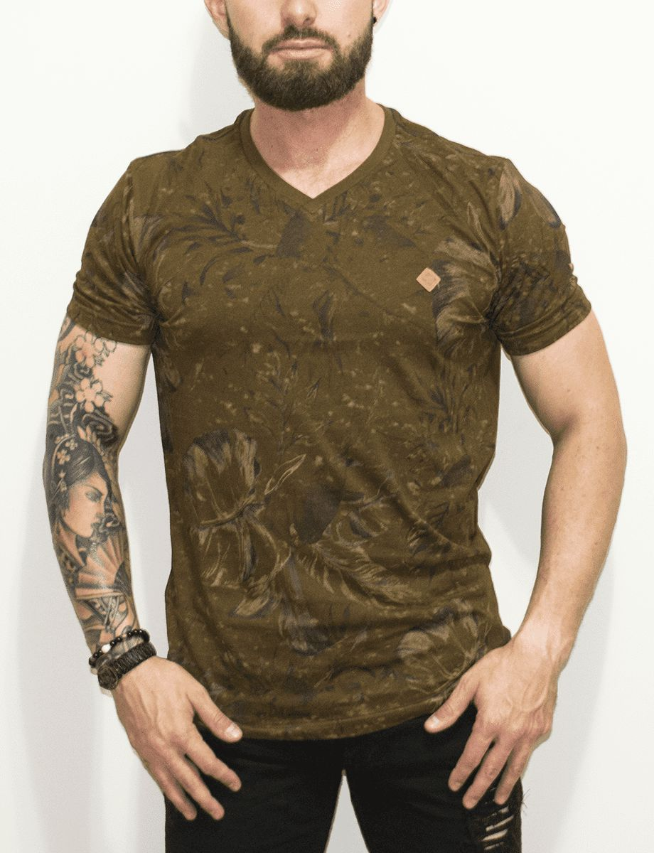 Camiseta Dixie Flower Stained Brown b5cfde19b1e