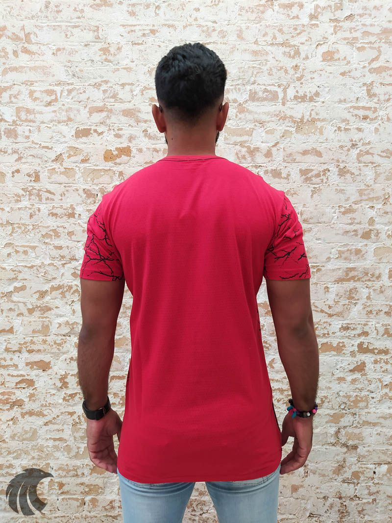 Camiseta Dixie Long Red Bolso  - Harpia Moda - Moda Masculina & Acessórios