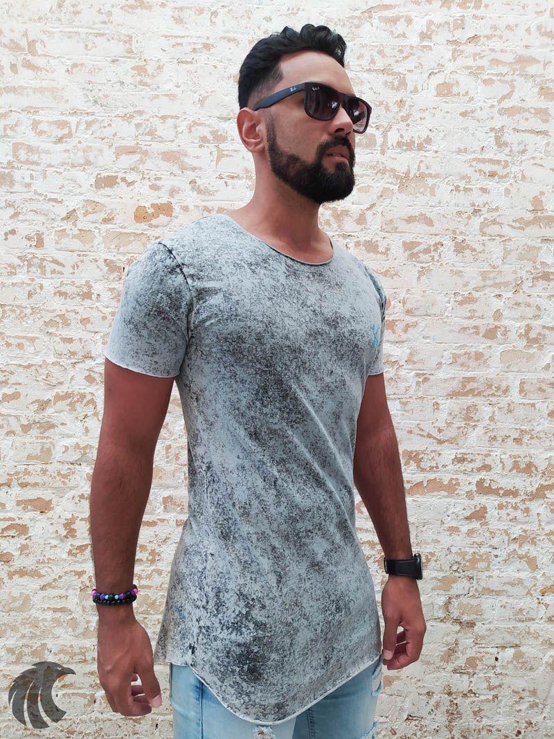 Camiseta Effel Grey Manchada  - Harpia Moda - Moda Masculina & Acessórios