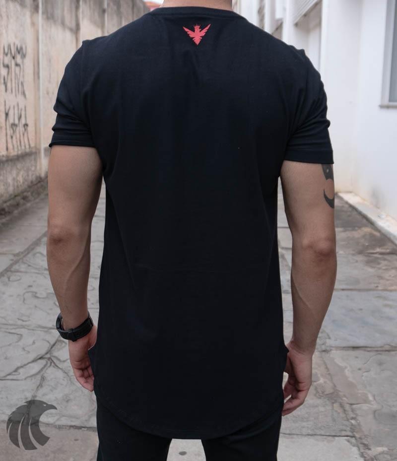 Camiseta Evoque Black EUA Lines  - Harpia Moda - Moda Masculina & Acessórios