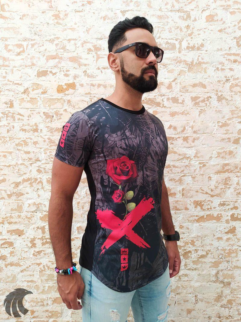 Camiseta Evoque Black Flower X  - Harpia Moda - Moda Masculina & Acessórios