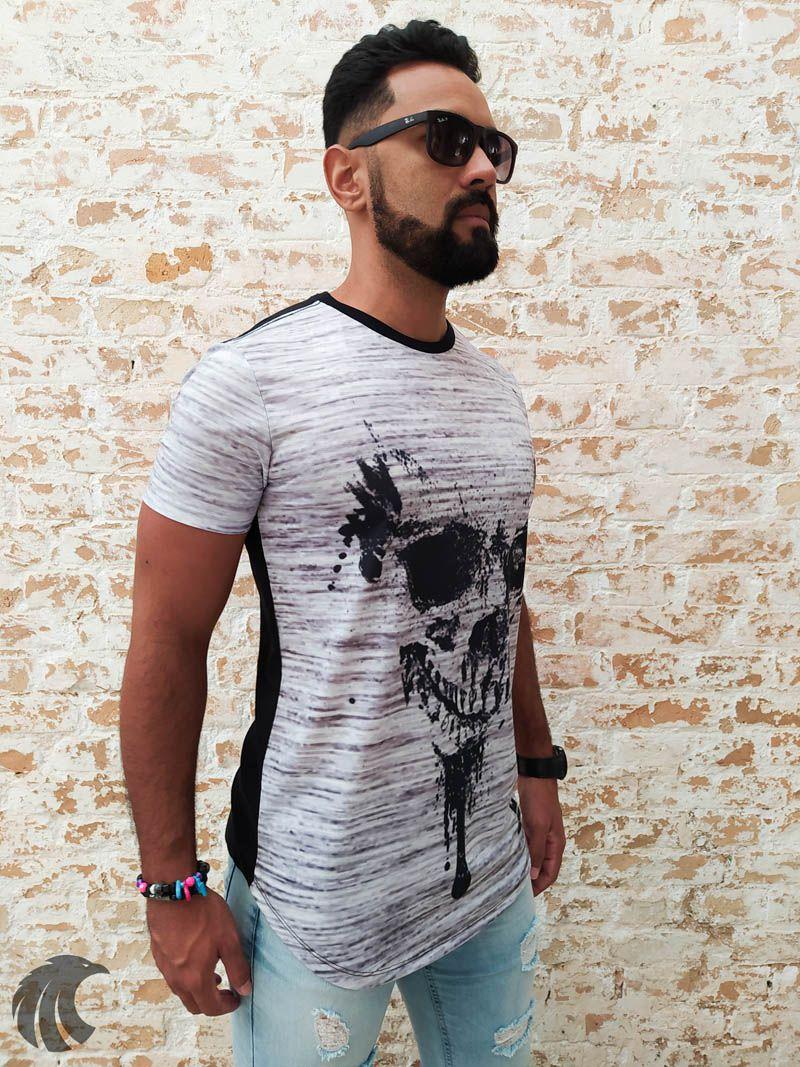 Camiseta Evoque Black Skull Splatters  - Harpia Moda - Moda Masculina & Acessórios