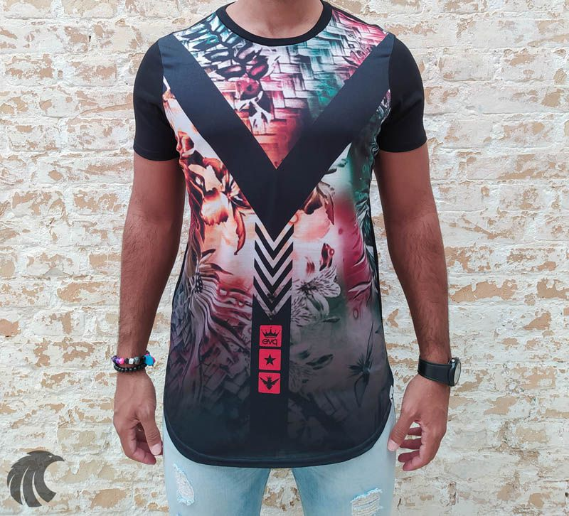 Camiseta Evoque Black V Arrows  - Harpia Moda - Moda Masculina & Acessórios