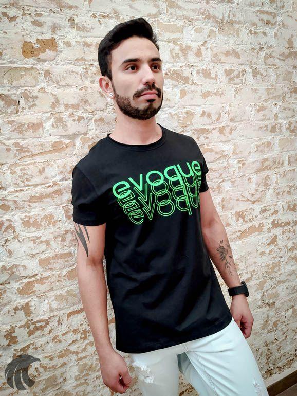 Camiseta Evoque Brand Contours  - Harpia Moda - Moda Masculina & Acessórios