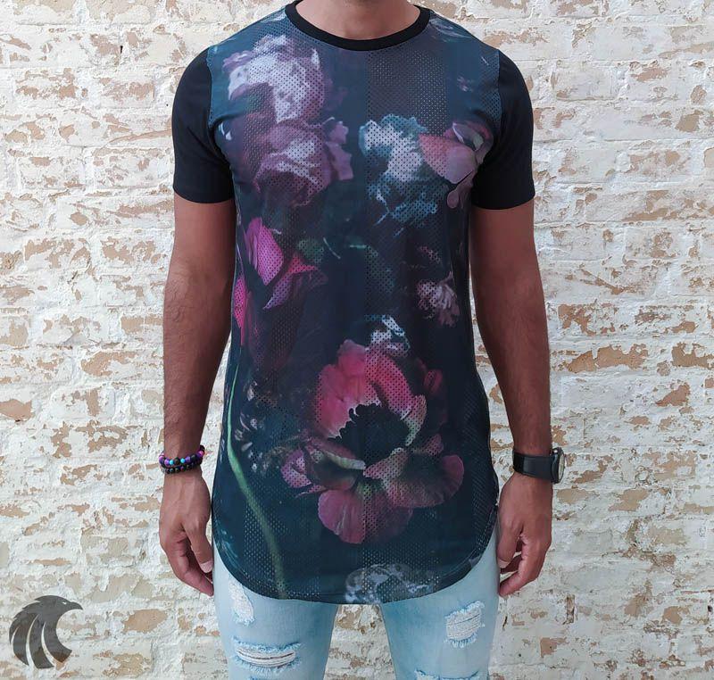 Camiseta Evoque Dry Fit Colors Flowers  - Harpia Moda - Moda Masculina & Acessórios