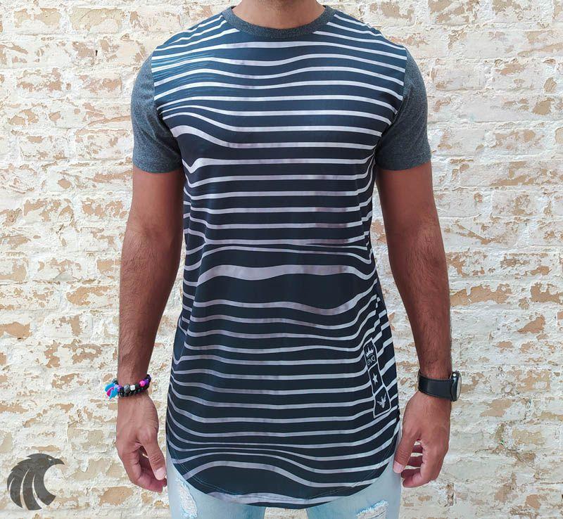 Camiseta Evoque Gray Ripples  - Harpia Moda - Moda Masculina & Acessórios