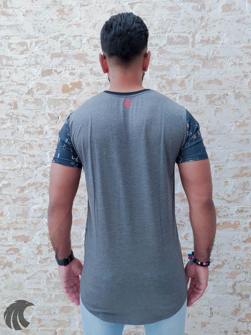 Camiseta Evoque Gray Seabed  - Harpia Moda - Moda Masculina & Acessórios
