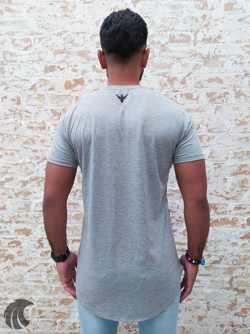 Camiseta Evoque Grey and Blue Sheets  - Harpia Moda - Moda Masculina & Acessórios