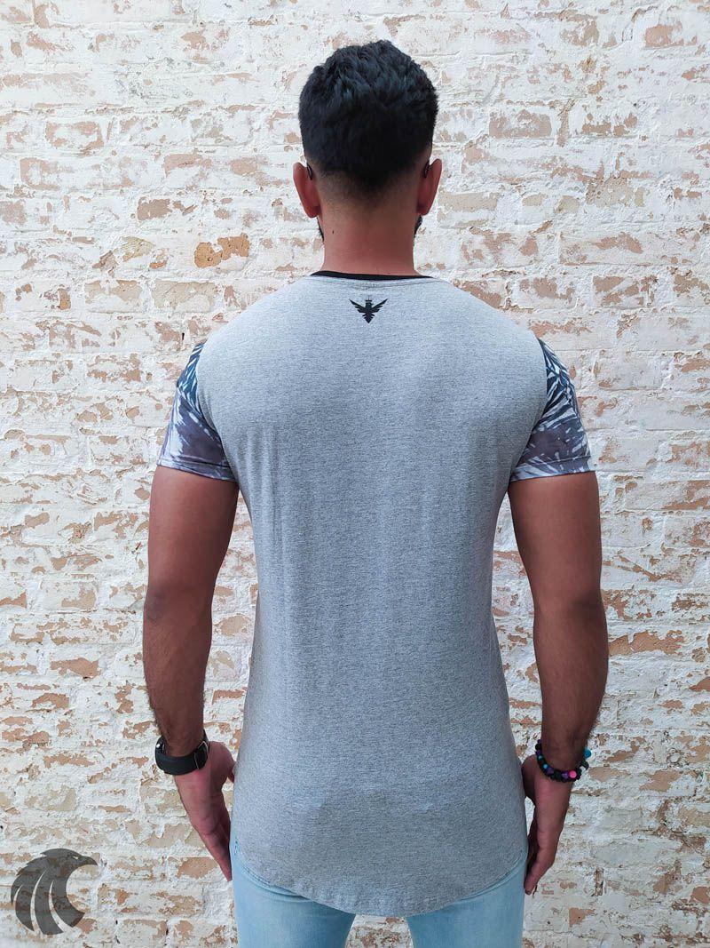 Camiseta Evoque Grey  Degrade Sheet  - Harpia Moda - Moda Masculina & Acessórios