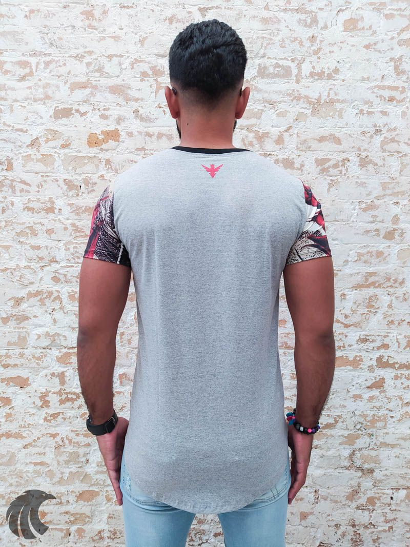 Camiseta Evoque Grey Flower Texture  - Harpia Moda - Moda Masculina & Acessórios