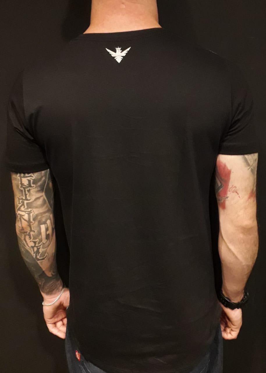 Camiseta Evoque Long  Bands  - Harpia Moda - Moda Masculina & Acessórios