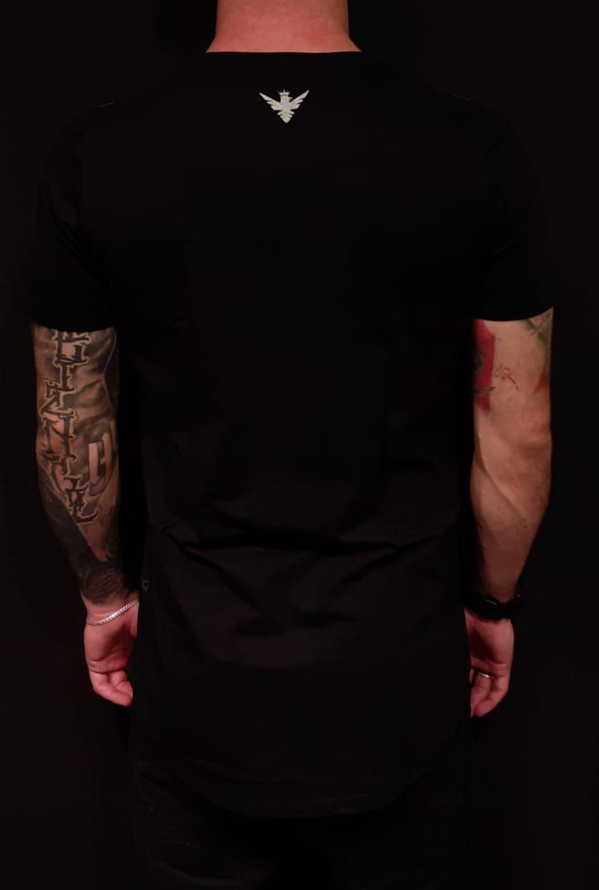 Camiseta Evoque Long Caveira Abacaxi  - Harpia Moda - Moda Masculina & Acessórios