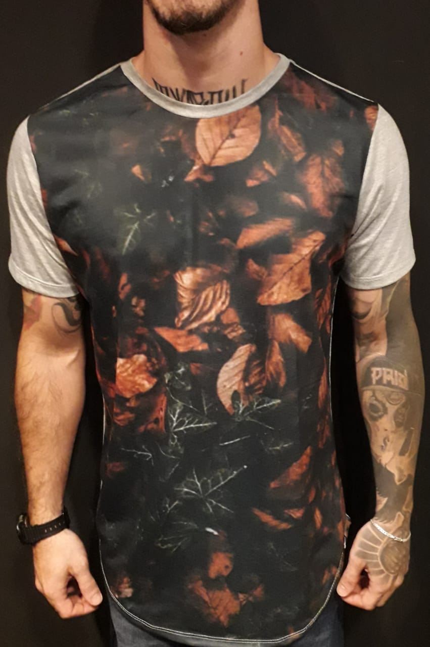 Camiseta Evoque Long Dry Leaves  - Harpia Moda - Moda Masculina & Acessórios