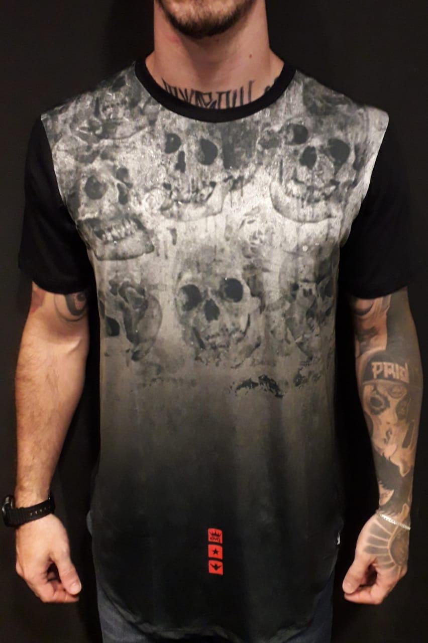 Camiseta Evoque Long  Ghost Skulls  - Harpia Moda - Moda Masculina & Acessórios