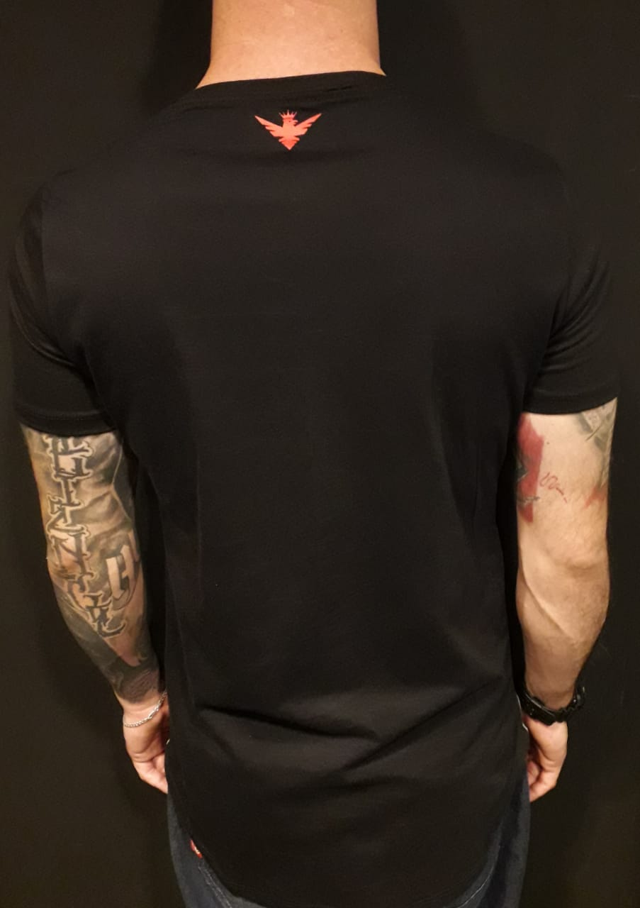 Camiseta Evoque Long Line Red  - Harpia Moda - Moda Masculina & Acessórios