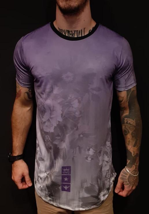 Camiseta Evoque Long  Purple Smooth  - Harpia Moda - Moda Masculina & Acessórios