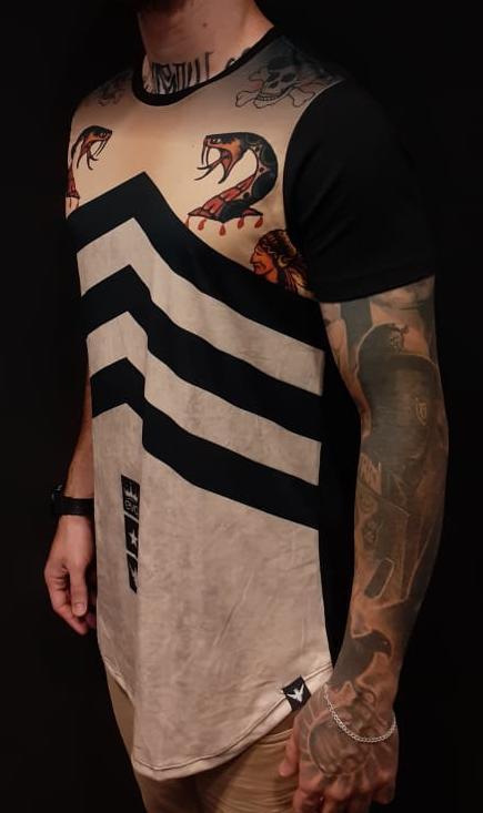 Camiseta Evoque Long Snake  - Harpia Moda - Moda Masculina & Acessórios