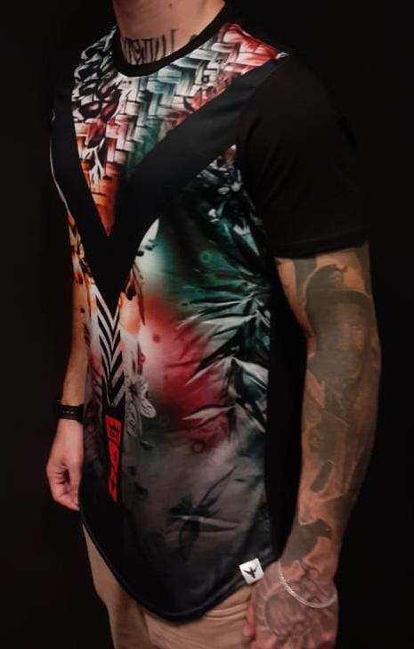 Camiseta Evoque Long  V  - Harpia Moda - Moda Masculina & Acessórios