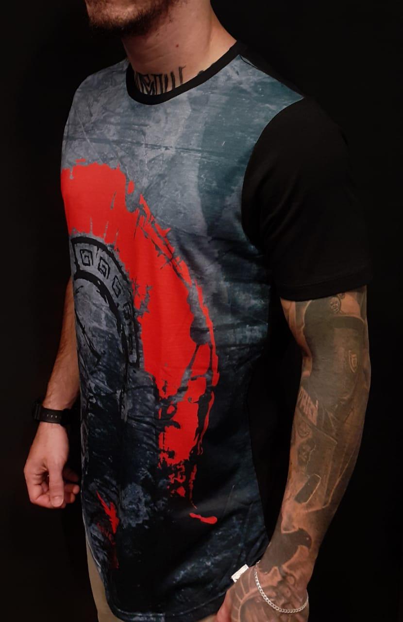 Camiseta Evoque Long Warrior Black  - Harpia Moda - Moda Masculina & Acessórios