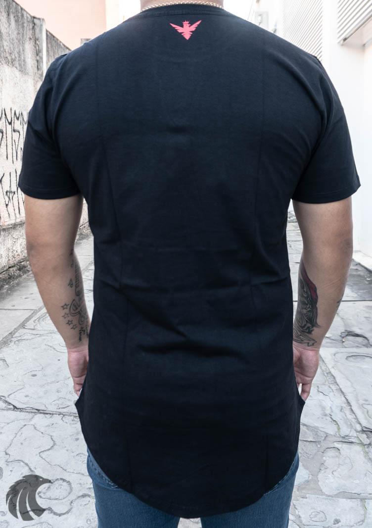 Camiseta Evoque Preta Estatua Long  - Harpia Moda - Moda Masculina & Acessórios