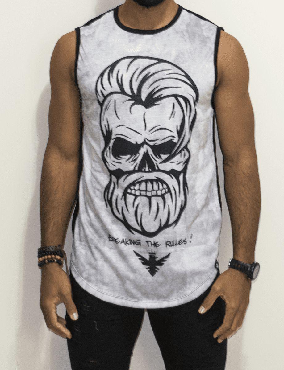 Camiseta Evoque Regata Caveira Beard - Harpia Moda - Moda Masculina ... ca808614931