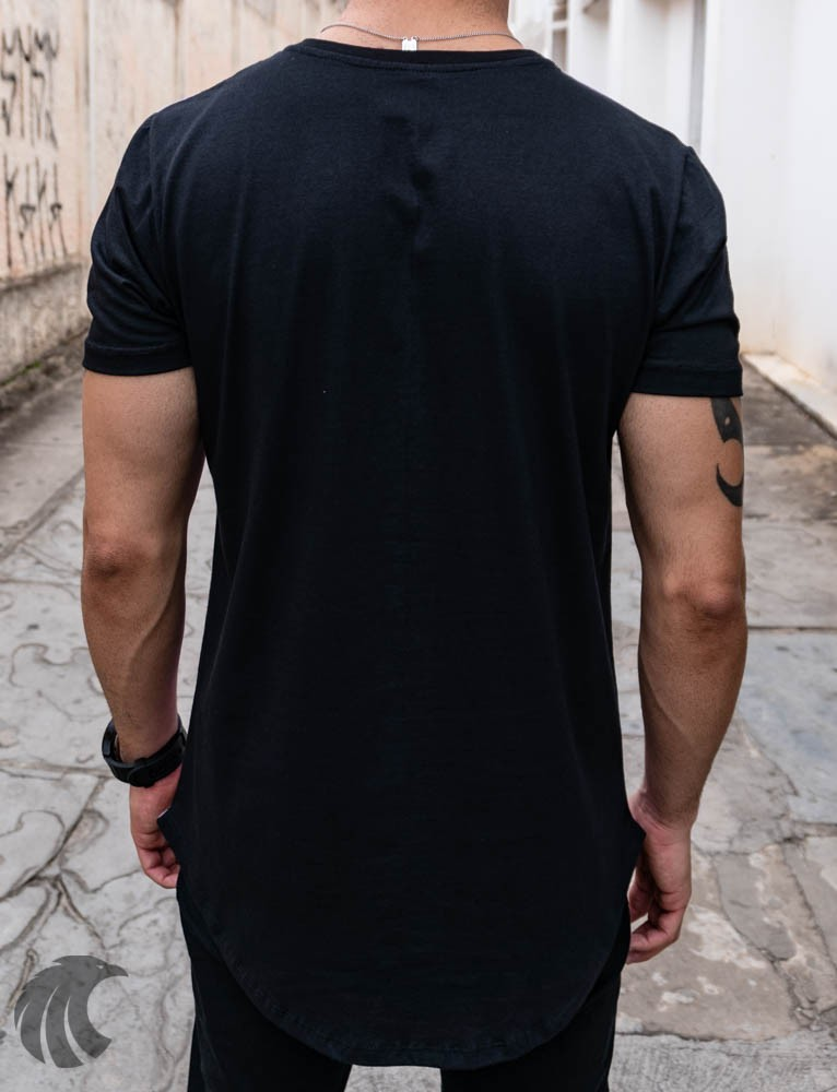 Camiseta Evoque Rosa Long Line Triângulos   - Harpia Moda - Moda Masculina & Acessórios
