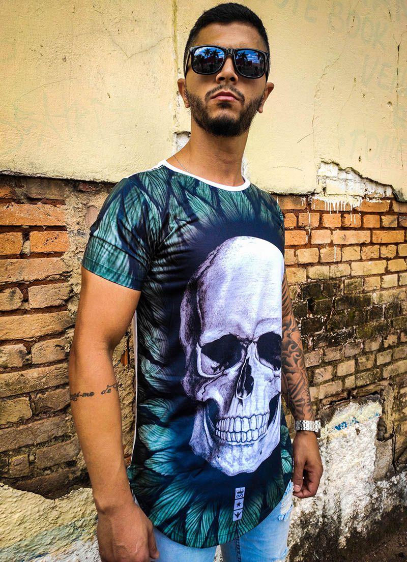 Camiseta Evoque Skull Nature  - Harpia Moda - Moda Masculina & Acessórios