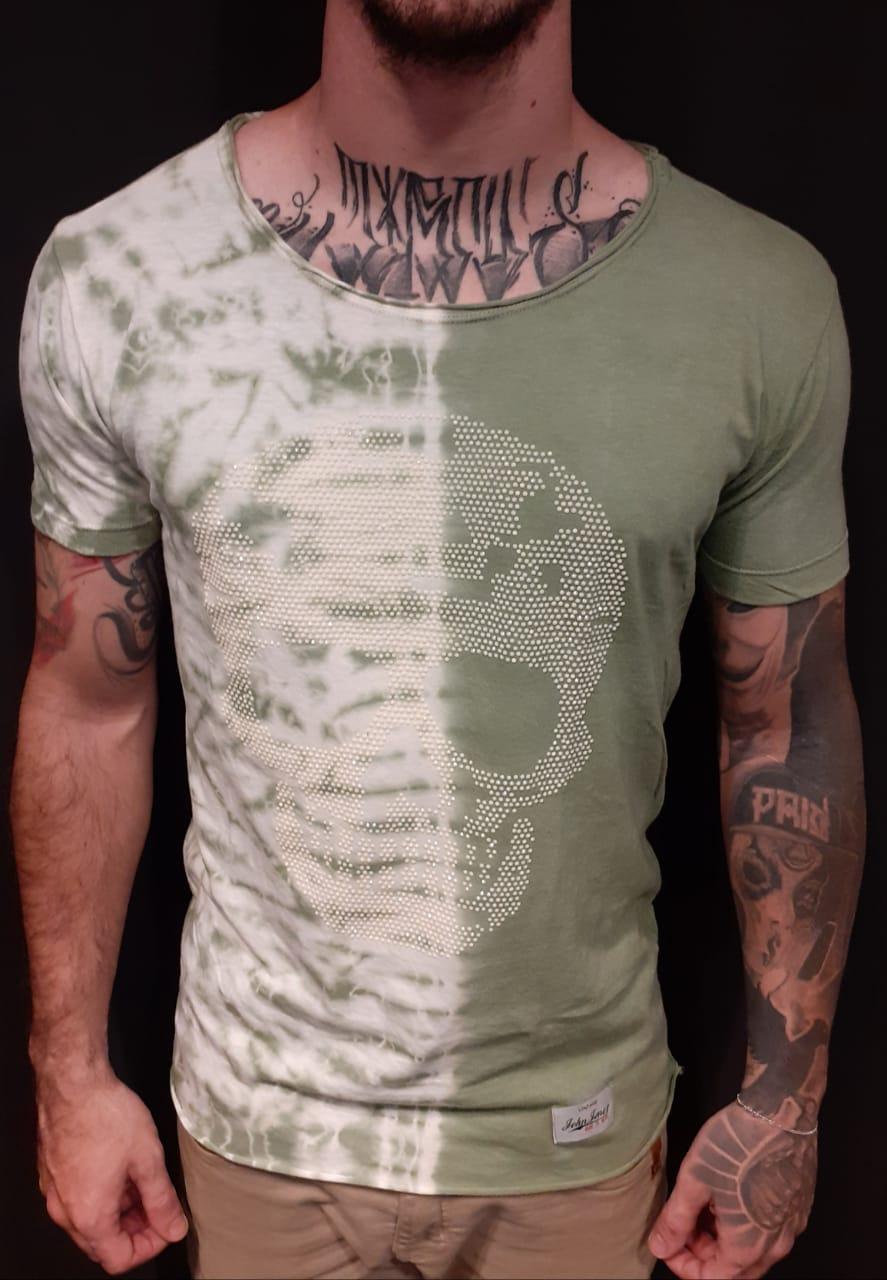 Camiseta John Johns Green Estonada  - Harpia Moda - Moda Masculina & Acessórios