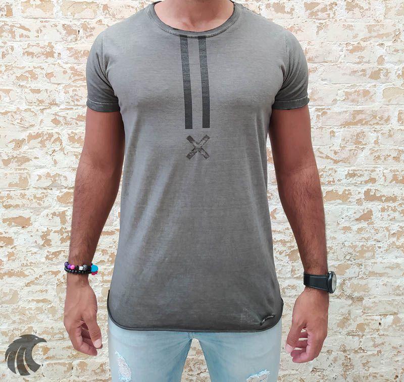Camiseta John Jones Grey X Detail  - Harpia Moda - Moda Masculina & Acessórios