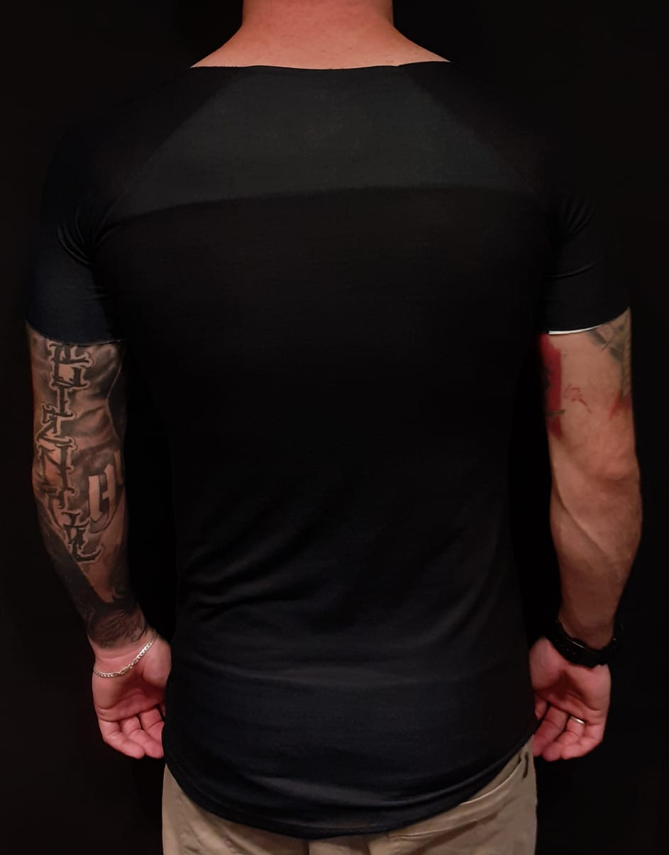 Camiseta John Rocket Long EUA Skull  - Harpia Moda - Moda Masculina & Acessórios