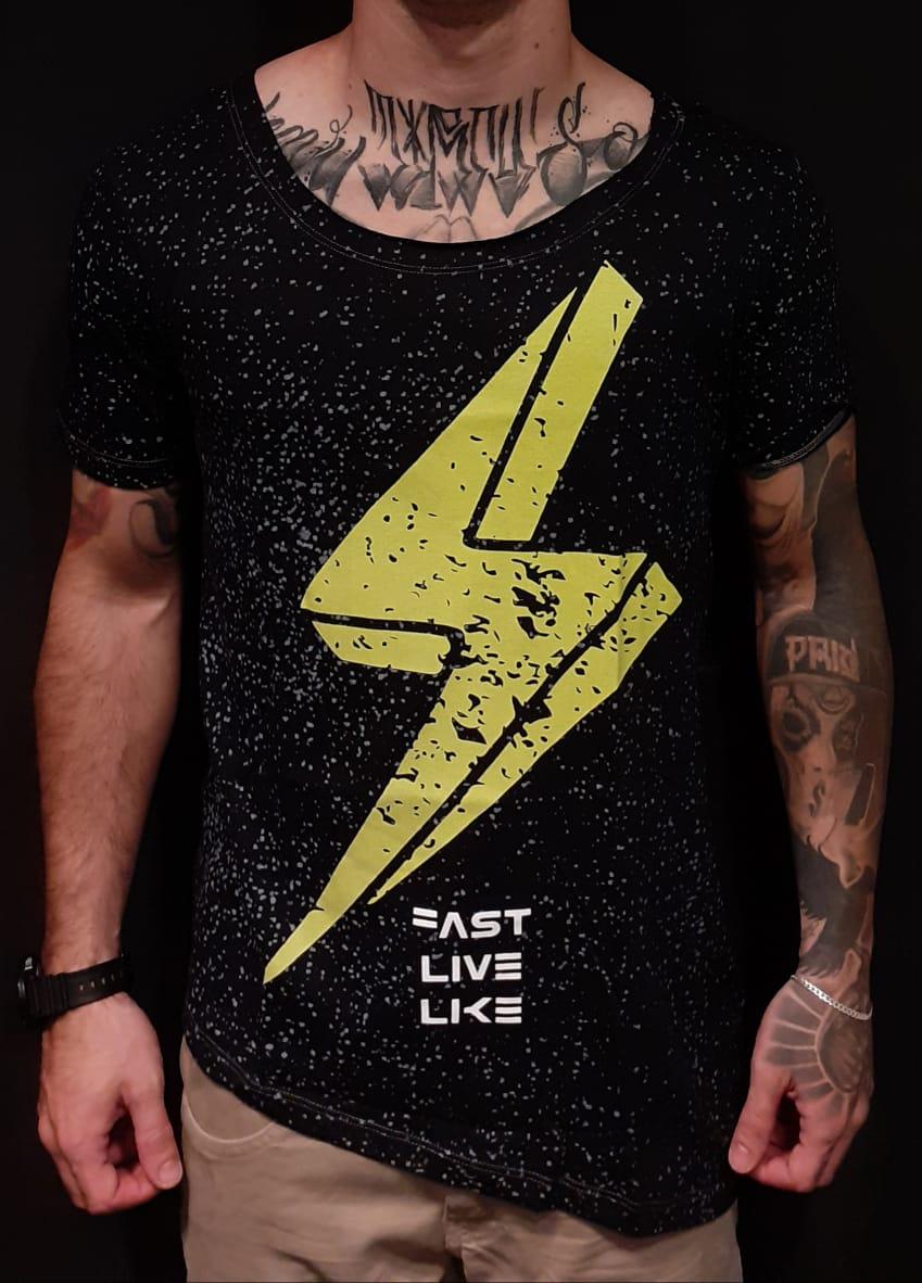 Camiseta King Joy Long Fast Ray  - Harpia Moda - Moda Masculina & Acessórios
