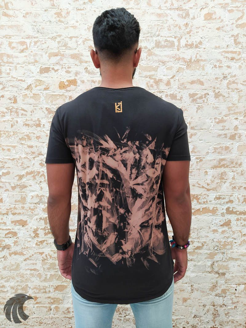 Camiseta King Joy Preta Power  - Harpia Moda - Moda Masculina & Acessórios