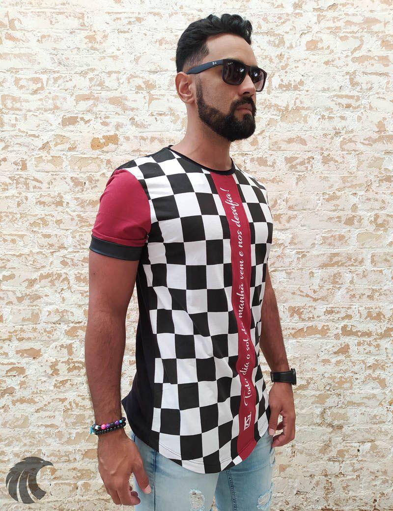 Camiseta King Joy Xadrez O Sol da Manhã  - Harpia Moda - Moda Masculina & Acessórios
