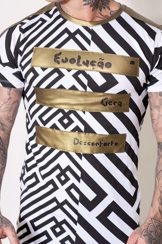 """Camiseta Lendary Gola O """"Gera Mudança""""  - Harpia Moda - Moda Masculina & Acessórios"""