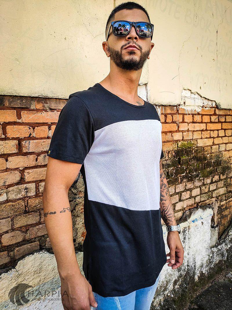 Camiseta Long Austin White Belt  - Harpia Moda - Moda Masculina & Acessórios