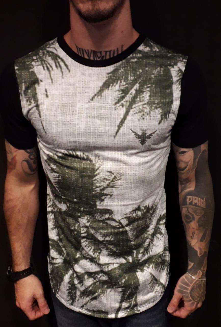 Camiseta Long  Coconut Tree  - Harpia Moda - Moda Masculina & Acessórios