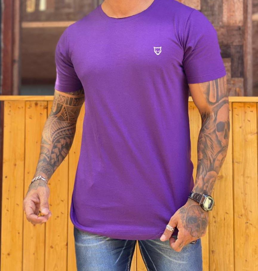 Camiseta Long Line Volk Culture Roxo  - Harpia Moda - Moda Masculina & Acessórios