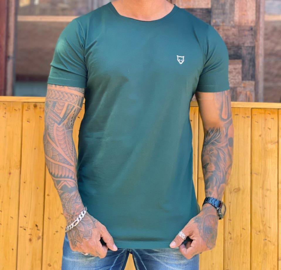 Camiseta Long Line Volk Culture Verde  - Harpia Moda - Moda Masculina & Acessórios