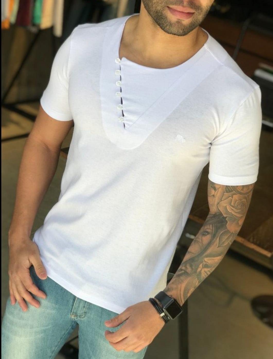 Camiseta M Artt Branca Style  - Harpia Moda - Moda Masculina & Acessórios