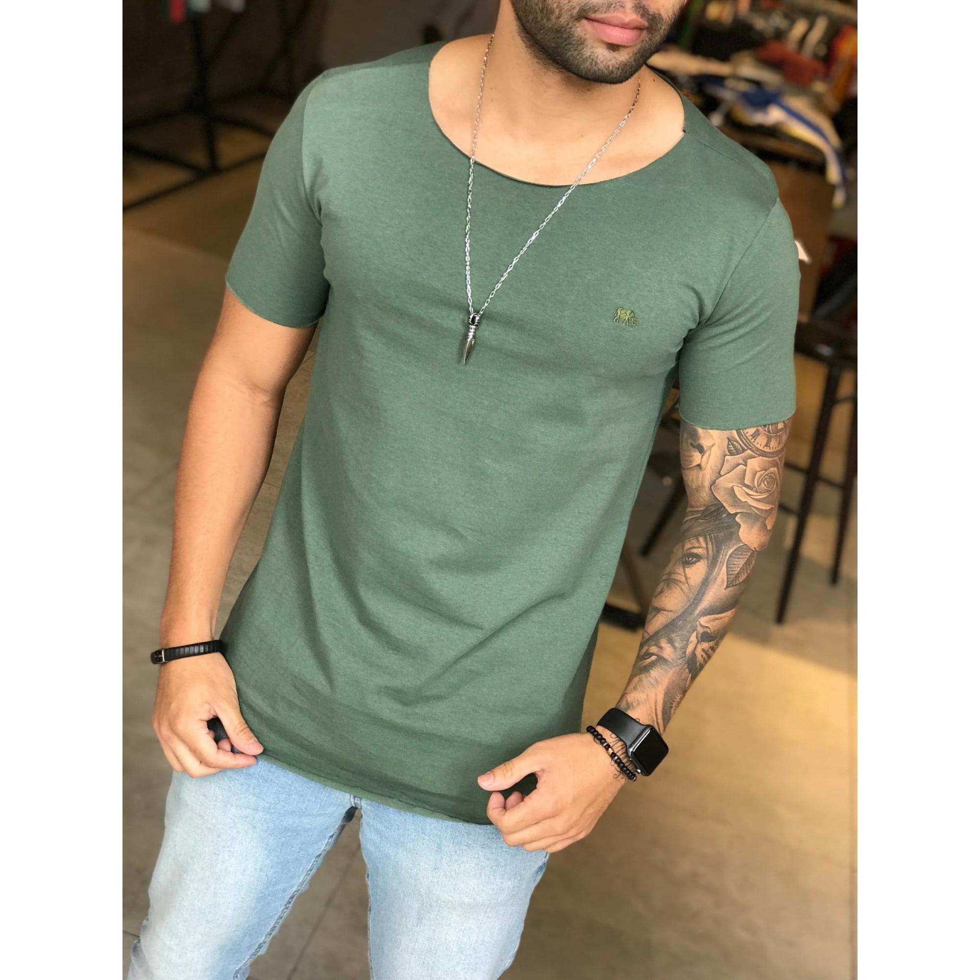 Camiseta M Artt Verde Deluxe  - Harpia Moda - Moda Masculina & Acessórios
