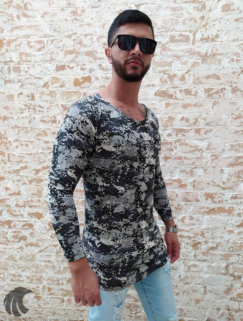 Camiseta Manga Longa Exalt Urban Camouflaged  - Harpia Moda - Moda Masculina & Acessórios