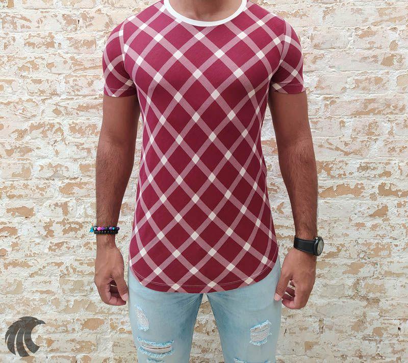 Camiseta Pargan White Stripes Long  - Harpia Moda - Moda Masculina & Acessórios
