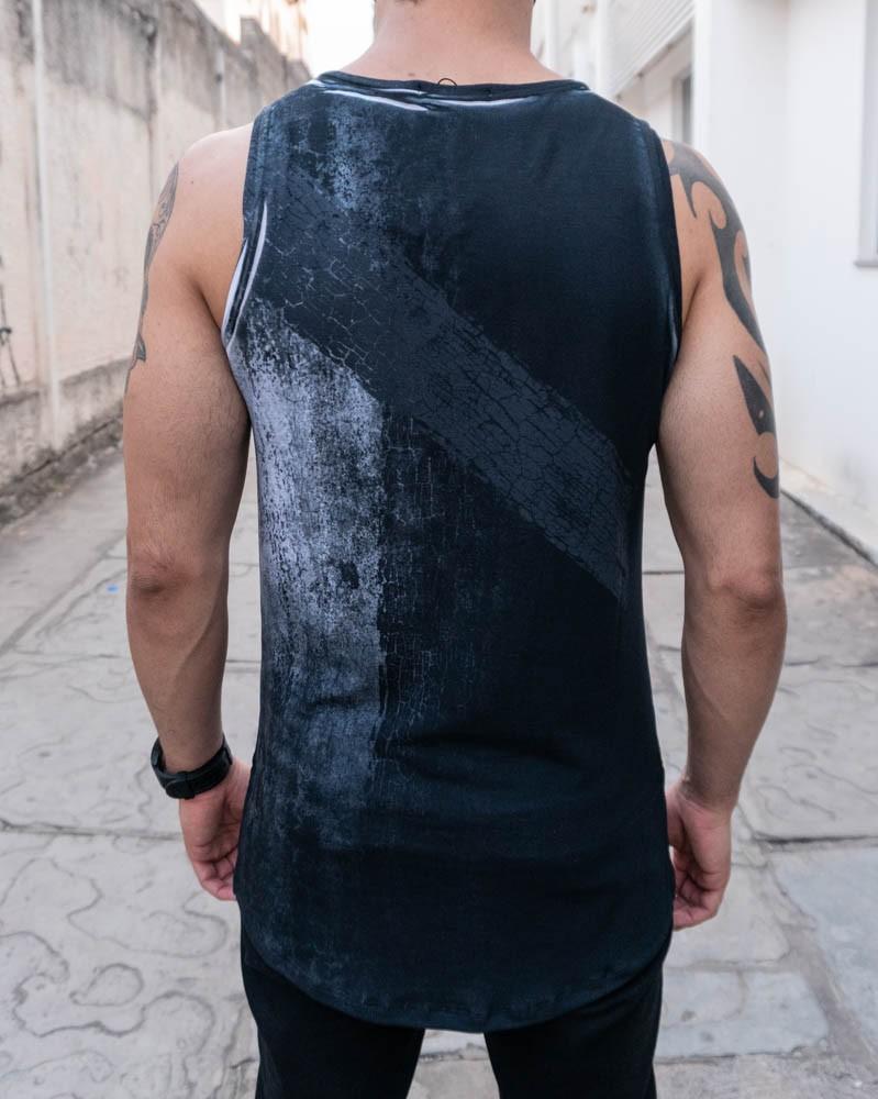 Camiseta Regata Austin Club Preto Nevoa  - Harpia Moda - Moda Masculina & Acessórios