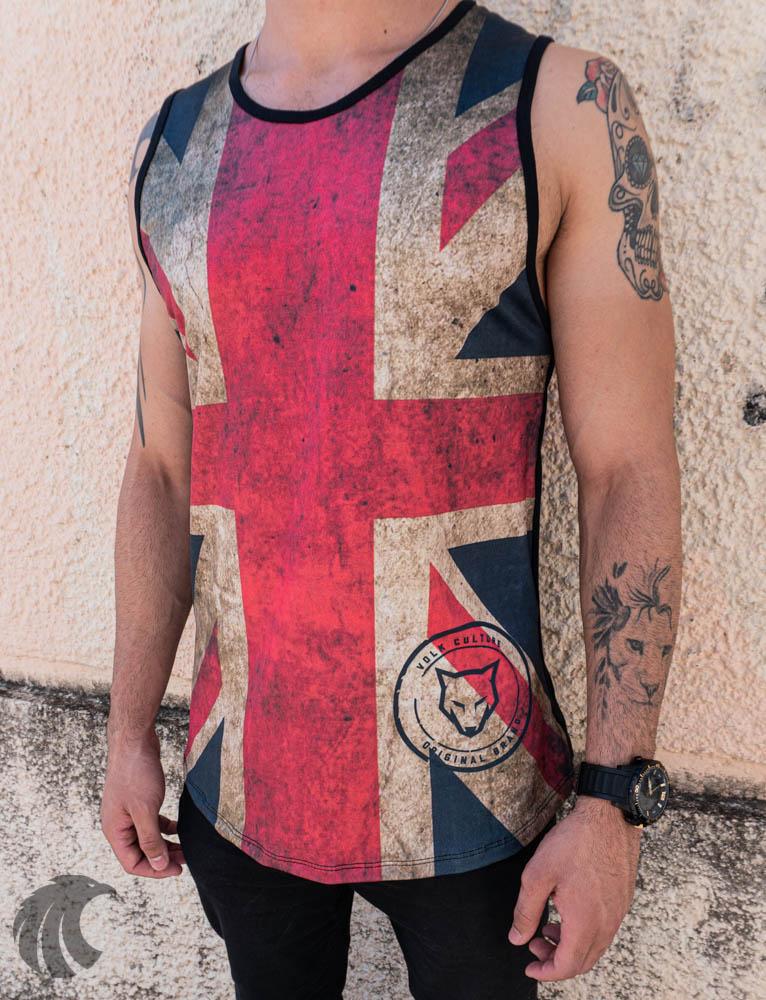 Camiseta Regata Volk Culture Preta Bandeira Reino Unido  - Harpia Moda - Moda Masculina & Acessórios