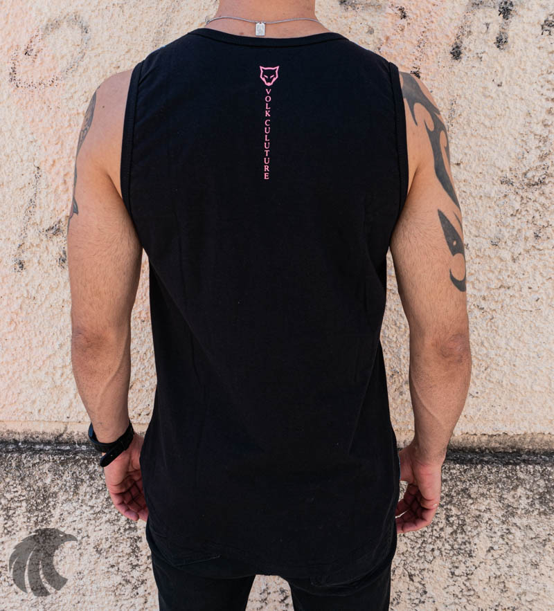 Camiseta Regata Volk Culture Preta Flamingo  - Harpia Moda - Moda Masculina & Acessórios