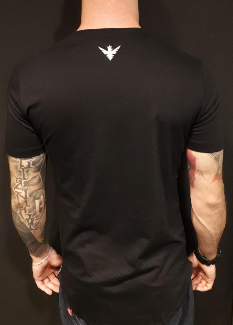 Camiseta Evoque Long Listras  - Harpia Moda - Moda Masculina & Acessórios