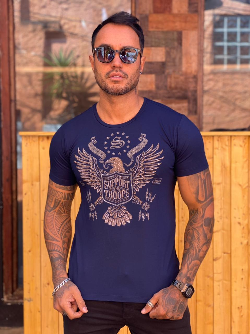Camiseta Starpolis Azul Águia  - Harpia Moda - Moda Masculina & Acessórios
