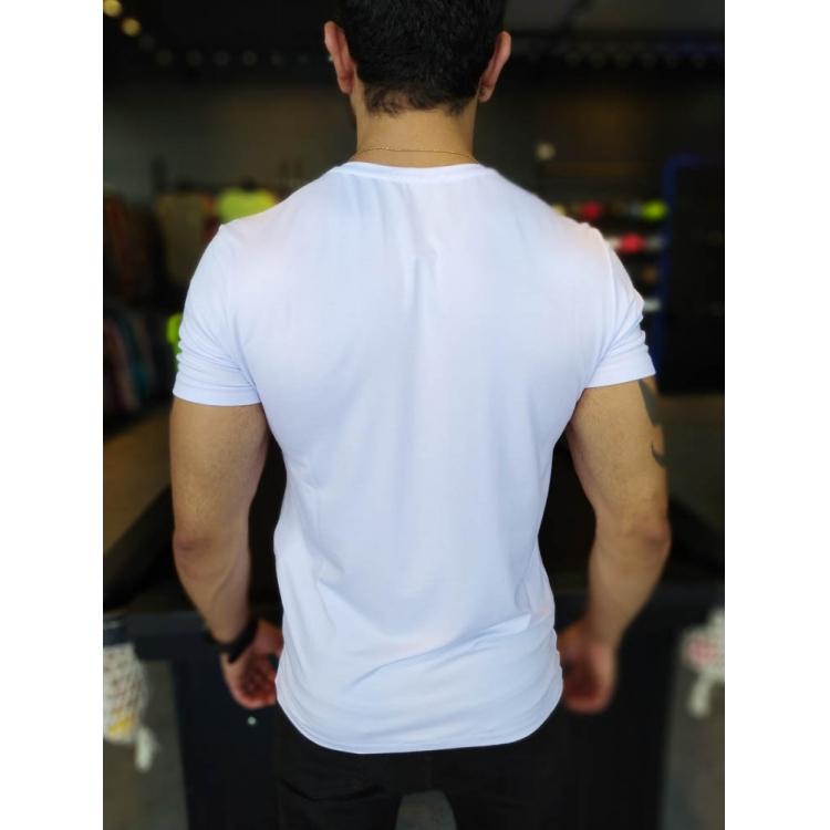 Camiseta Starpolis Branca Caveira Perigo  - Harpia Moda - Moda Masculina & Acessórios
